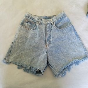 Vintage Zena Acid Washed high waisted mom shorts